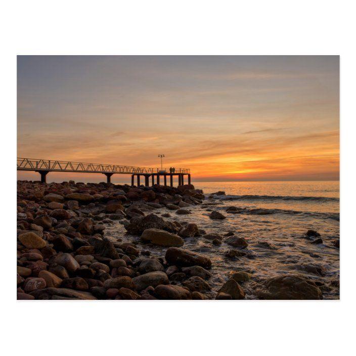 Postal Amanecer desde una playa de la costa azahar |