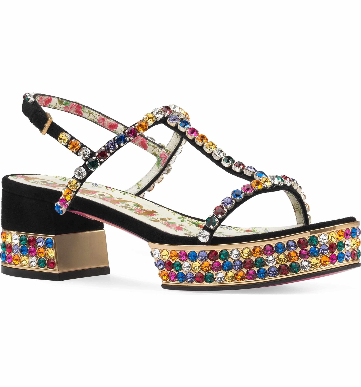 1fa88663d27e Main Image - Gucci Mira Crystal Embellished Platform Sandal (Women ...