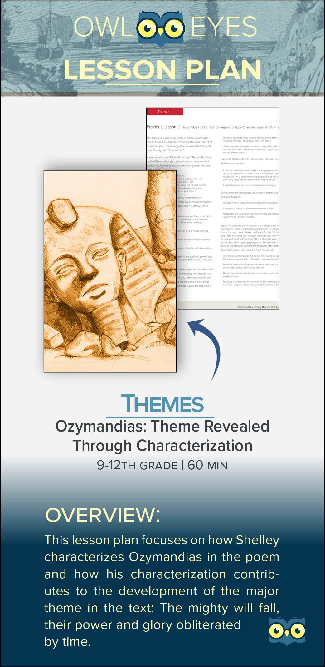 Download Our Newest Lesson Plan Covering Theme In Ozymandia By Percy Bysshe Shelley On Teacher Pay Teaching Guide Resource Classroom How To Of The Poem Pb