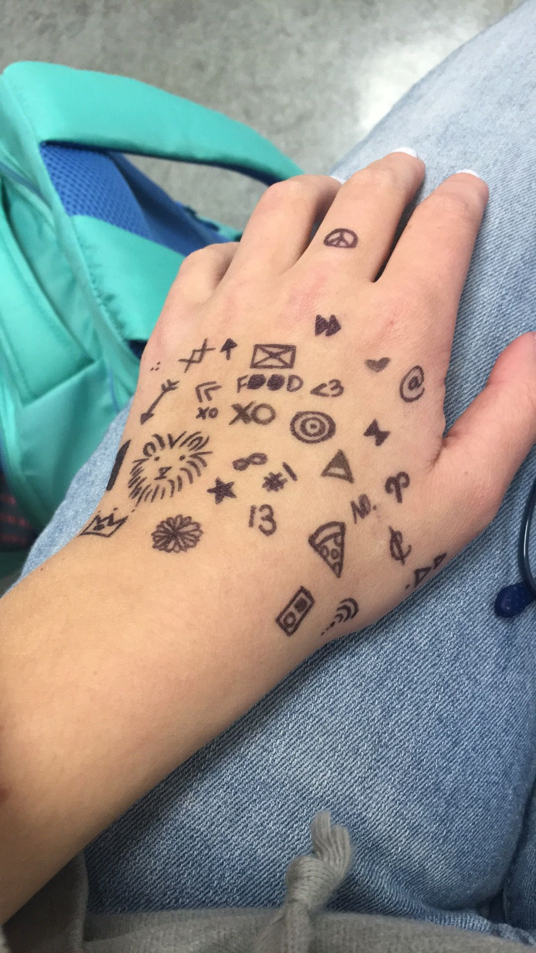 Drawing On My Hand Sharpie Tattoos How To Draw Hands Sharpie Drawings