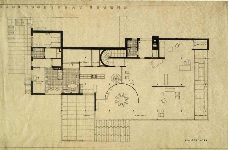 archivo mansi n tugendhat planta architectural sketch drawing pinterest vans. Black Bedroom Furniture Sets. Home Design Ideas
