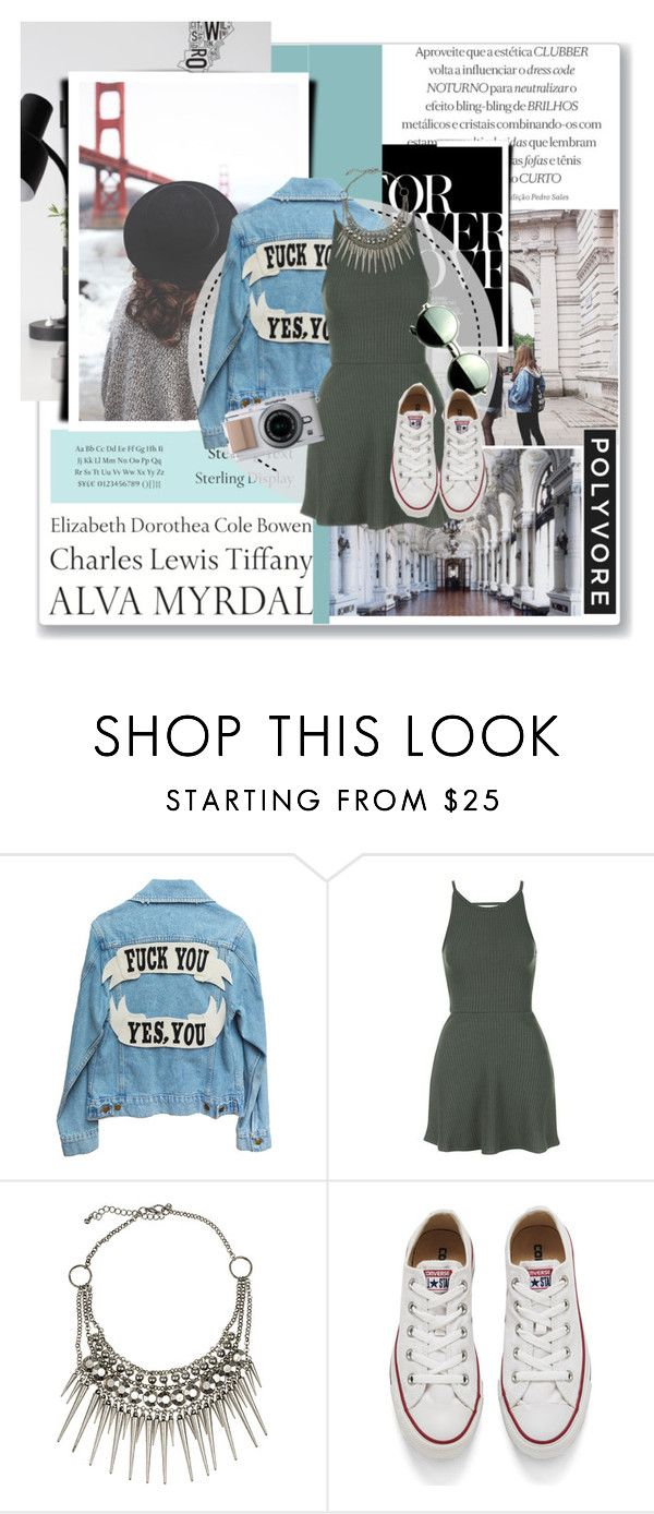 """""""Sin título #270"""" by marroa-garcia ❤ liked on Polyvore featuring INDIE HAIR, Tom Ford, Tiffany & Co., Topshop, Club Manhattan, Converse and Revo"""