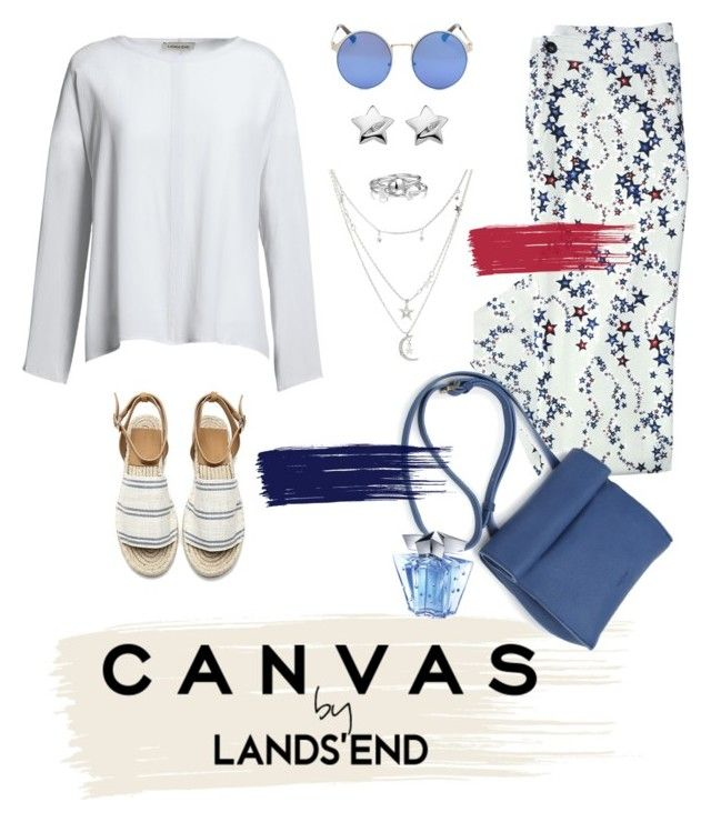 """""""Paint Your Look With Canvas by Lands' End: Contest Entry"""" by madteapartydl ❤ liked on Polyvore featuring Canvas by Lands' End, Charlotte Russe, Lands' End, Bling Jewelry, Hot Diamonds, Thierry Mugler, casual, weekend, CasualChic and weekendbeauty"""