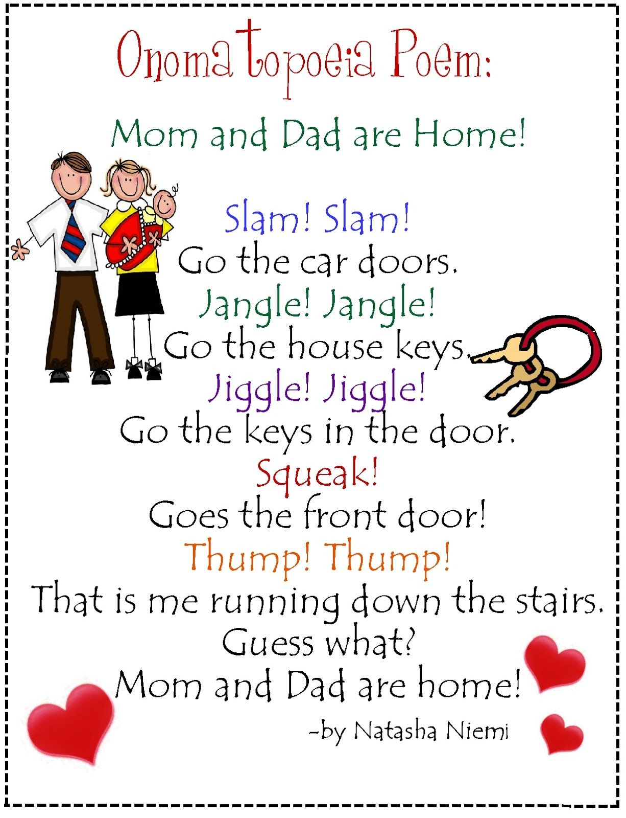 Onomopatea Poem Mom And Dad