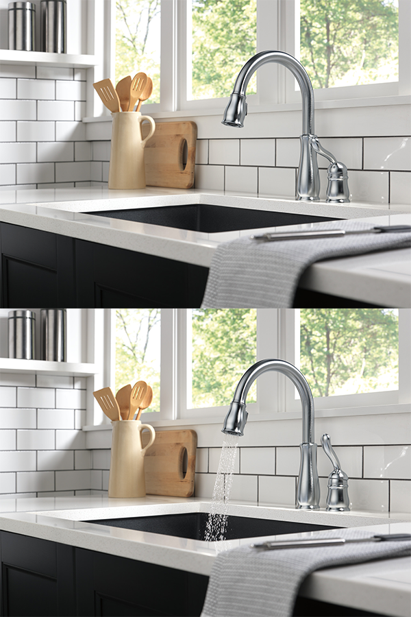 Delta Faucet Leland 978 Arwe Dst Single Handle Pull Down Kitchen Faucet Arctic Stainless Discontinued No Longer Available In 2020 Delta Faucets Faucet Kitchen Pulls