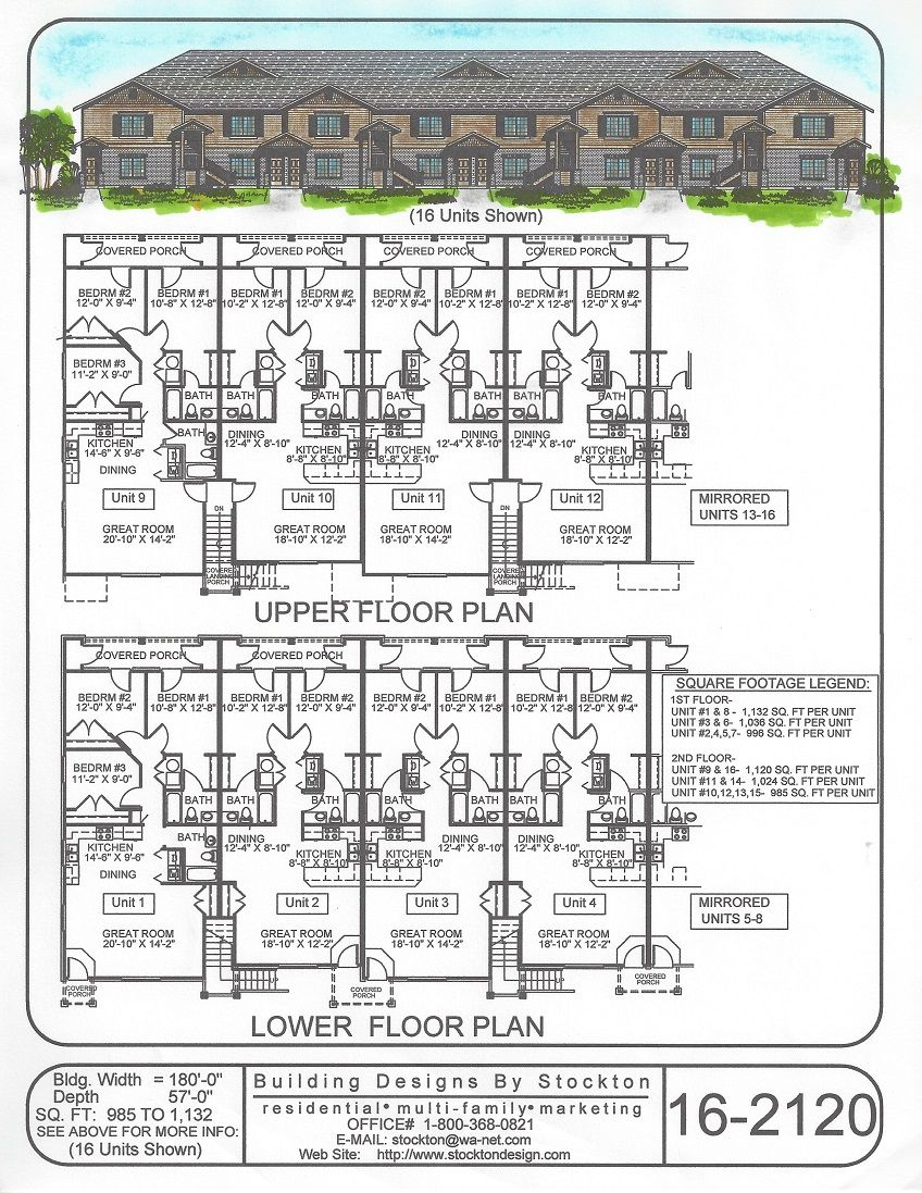 Building designs by stockton plan 16 2120 apartment for Apartment complex designs