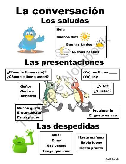 Saludos, presentaciones y despedidas (A1) Good basic visual ...
