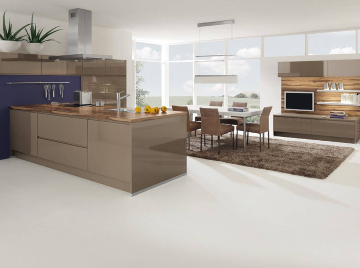 Une cuisine design pour un intérieur contemporain - Elle Décoration ...