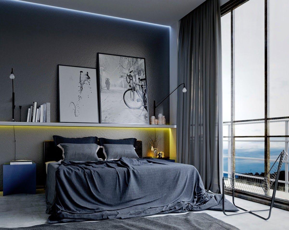 Bedroom interior wall decoration masculine bedroom interior design  bedroom decor  pinterest