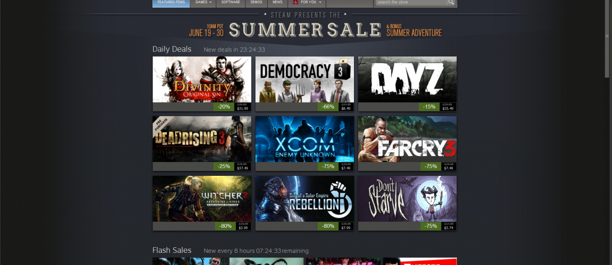 The Steam summer sale is now live! Which games do you want to be discounted?  http://www.gamerassaultweekly.com/2014/06/19/steam-sale-live/