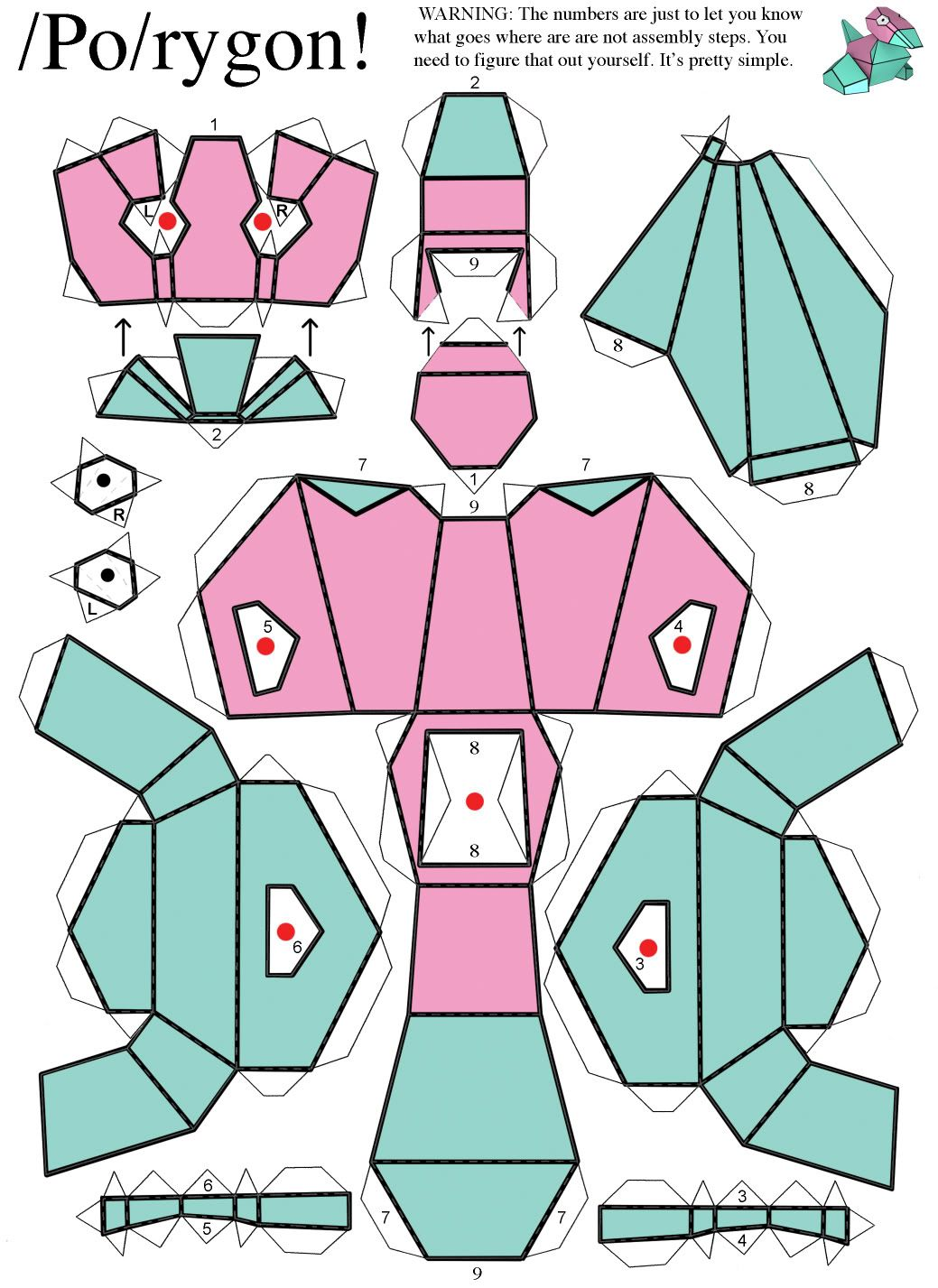 Anime Papercraft Templates Anime Papercraft Template Paper