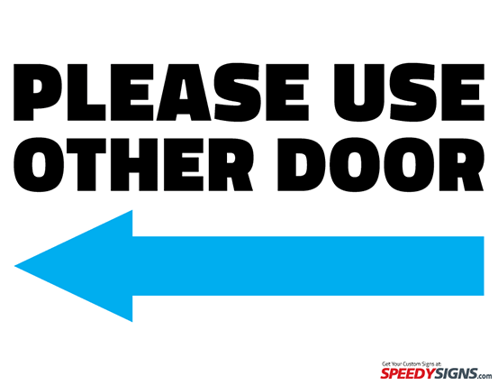 image about Please Use Other Door Sign Printable named No cost Make sure you Retain the services of Other Doorway - Still left Arrow Printable Signal
