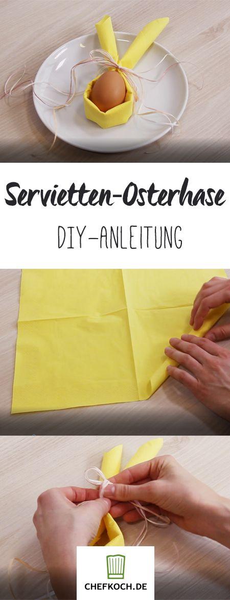 Servietten-Deko für den Oster-Tisch | Chefkoch.de Video