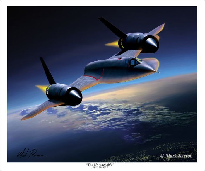 "Untouchable by Dru Blair /""Skunkworks/"" A-12 Aviation Art Prints Blackbird"