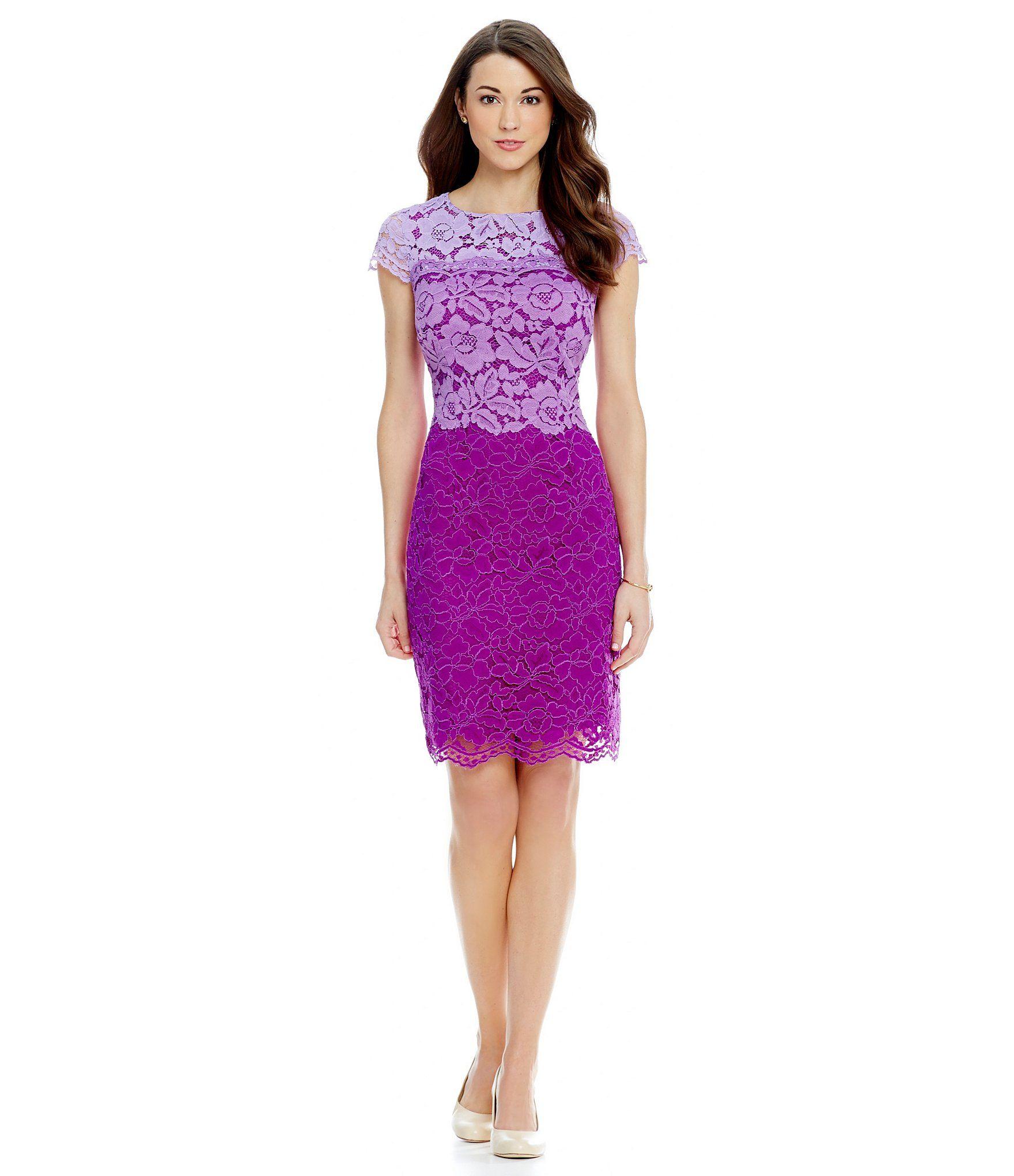 Antonio Melani Playing Favorites Kaylee Ombre Lace Dress | Dillards ...