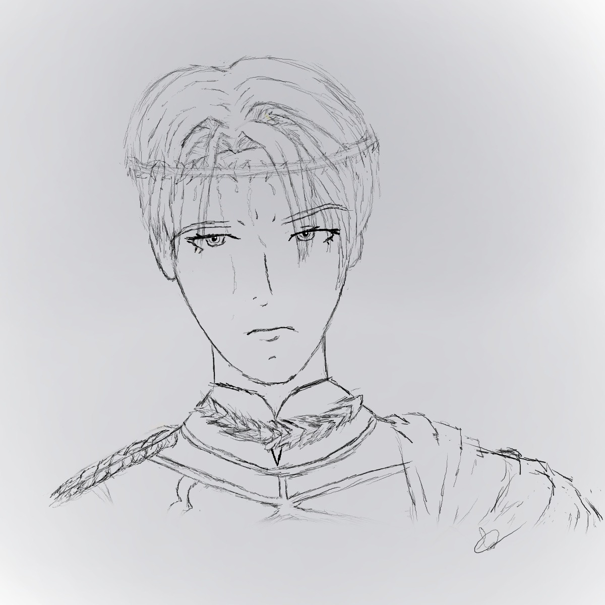 Kind Of Old Drawing Of Dimitri From Fire Emblem Three Houses