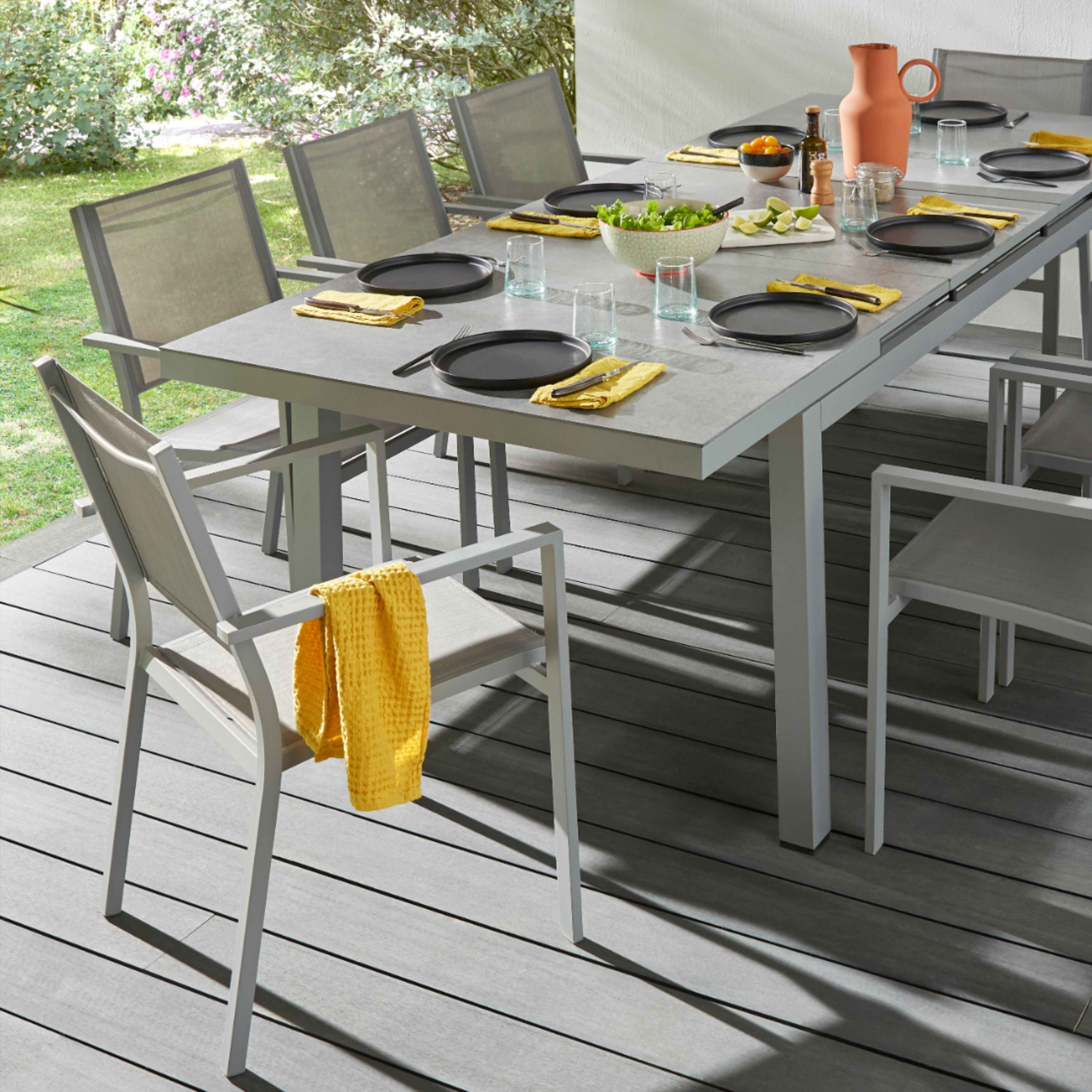 Table De Jardin Brusnik Extension En 2020 Table De Jardin Mobilier Jardin Jardins