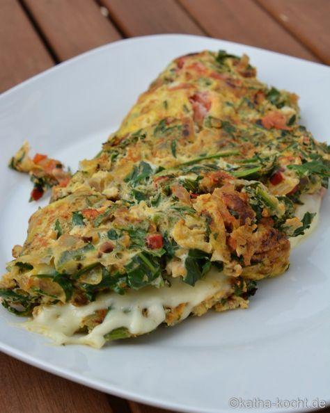 Rucola Omelett - Katha-kocht!