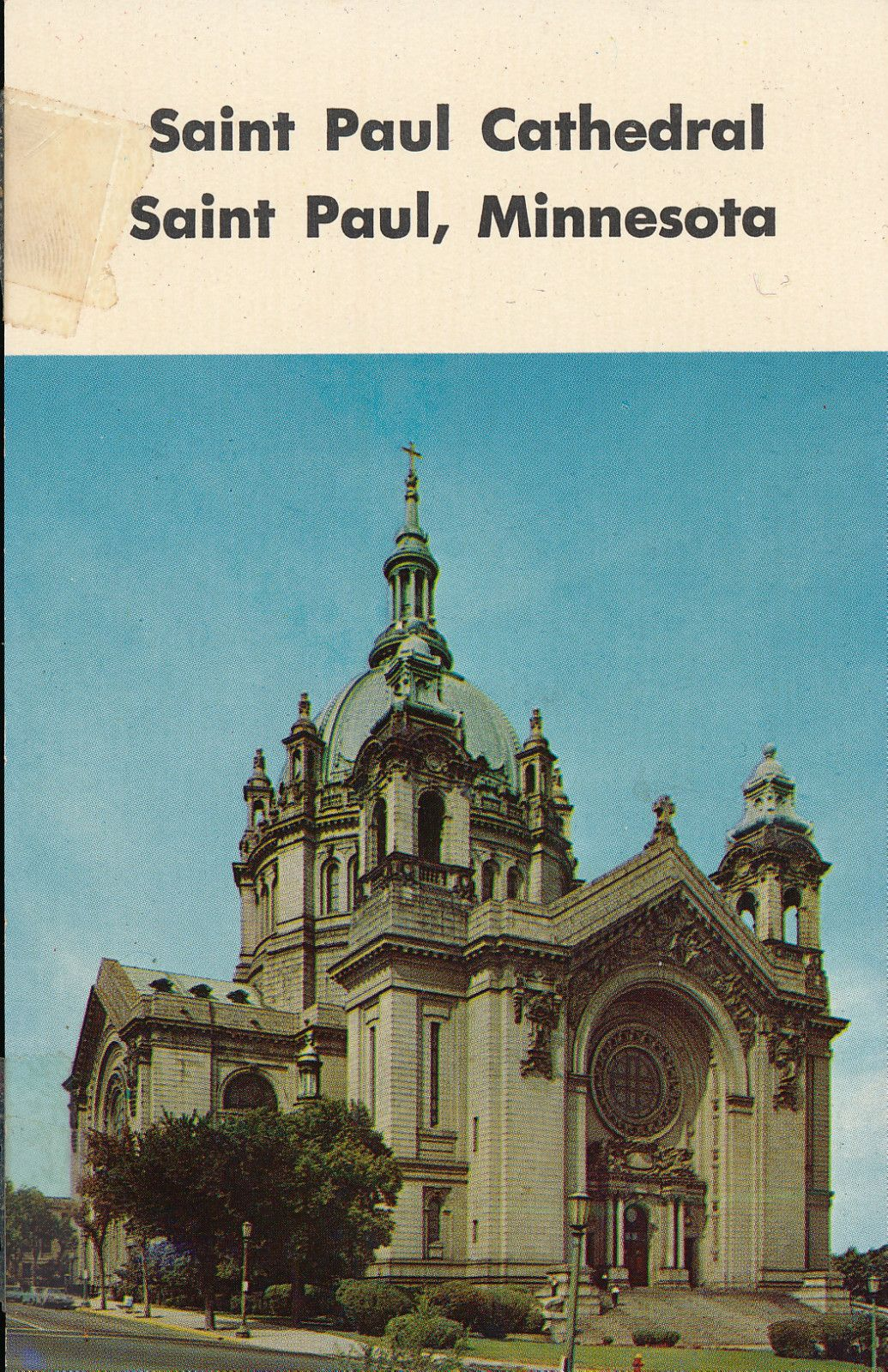 Saint Paul Cathedral in St. Paul Minnesota Postcard