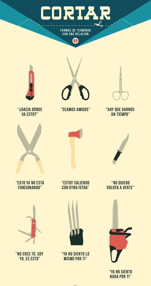 Las tijeras. Tan de moda siempre.