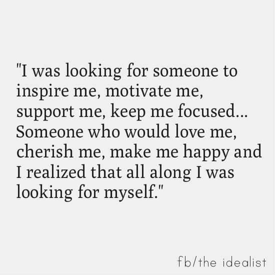 Look no further than yourself.