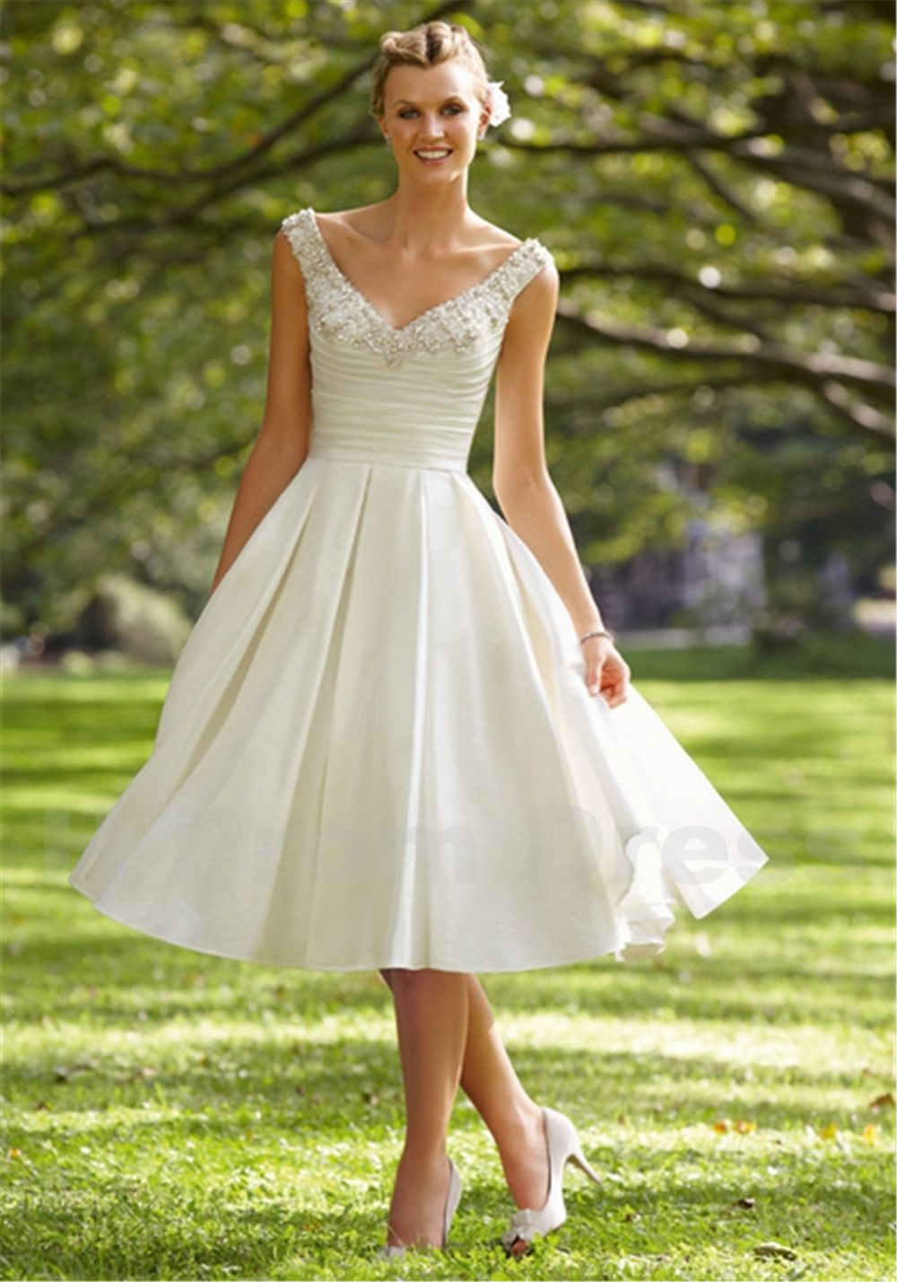 New crystal sequins vestido de noiva backless short wedding dress