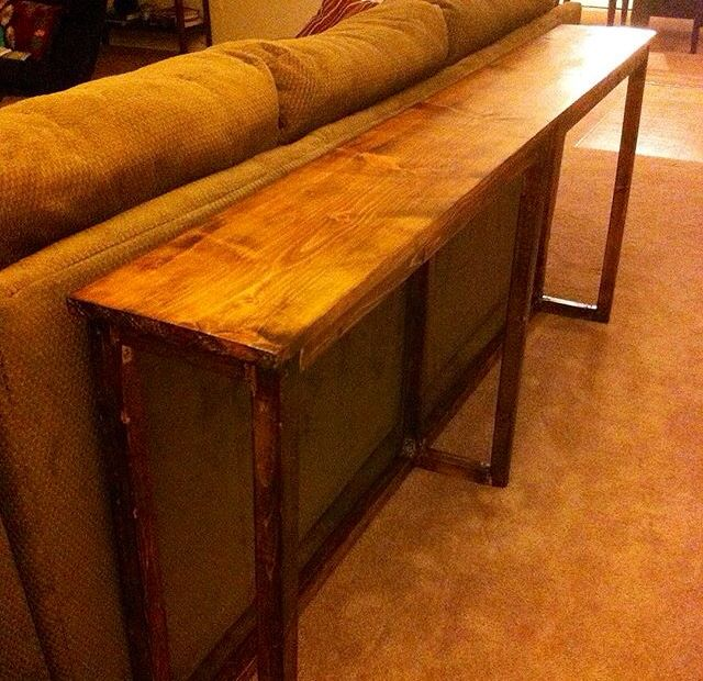 Skinny Table Bar That Fits Perfectly Behind The Couch
