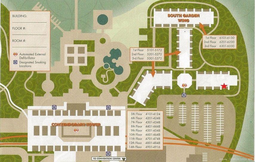 8 Fresh Contemporary Resort Garden Wing Disney Vacation Club