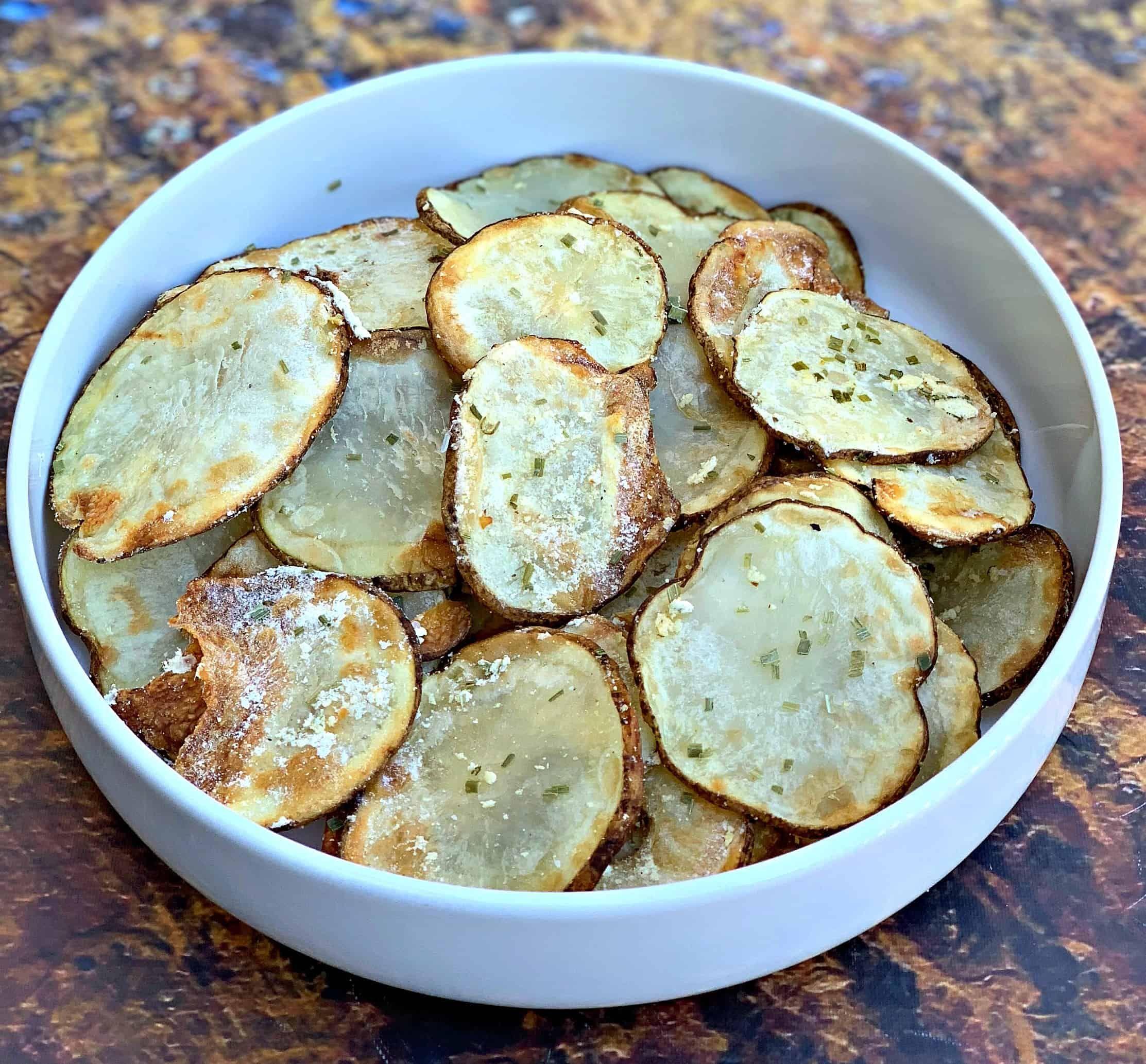 Air fryer crunchy homemade sour cream and onion potato