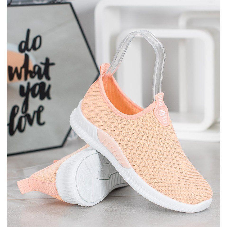 Shelovet Wsuwane Buty Sportowe Pomaranczowe Baby Shoes Shoes Fashion