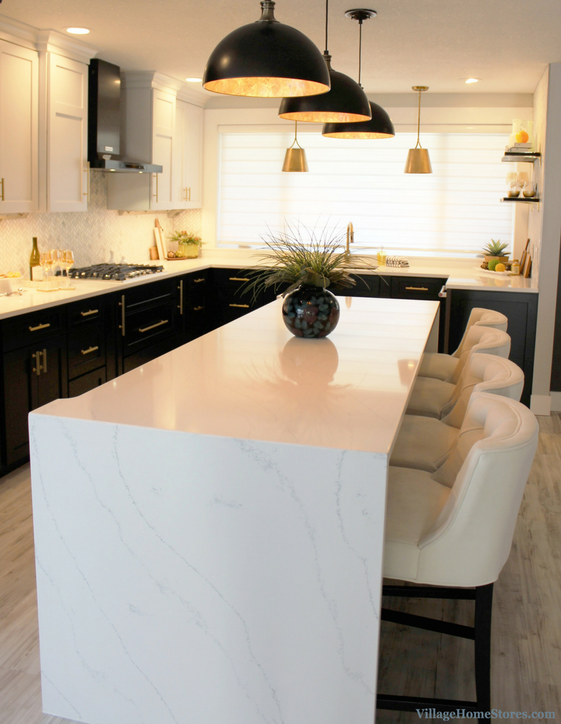 Hanstone Quartz Counters In The Tranquility Design In A Remodeled Coal Valley Il Kitchen Villag Kitchen Remodel Kitchen Remodel Small Modern Farmhouse Dining