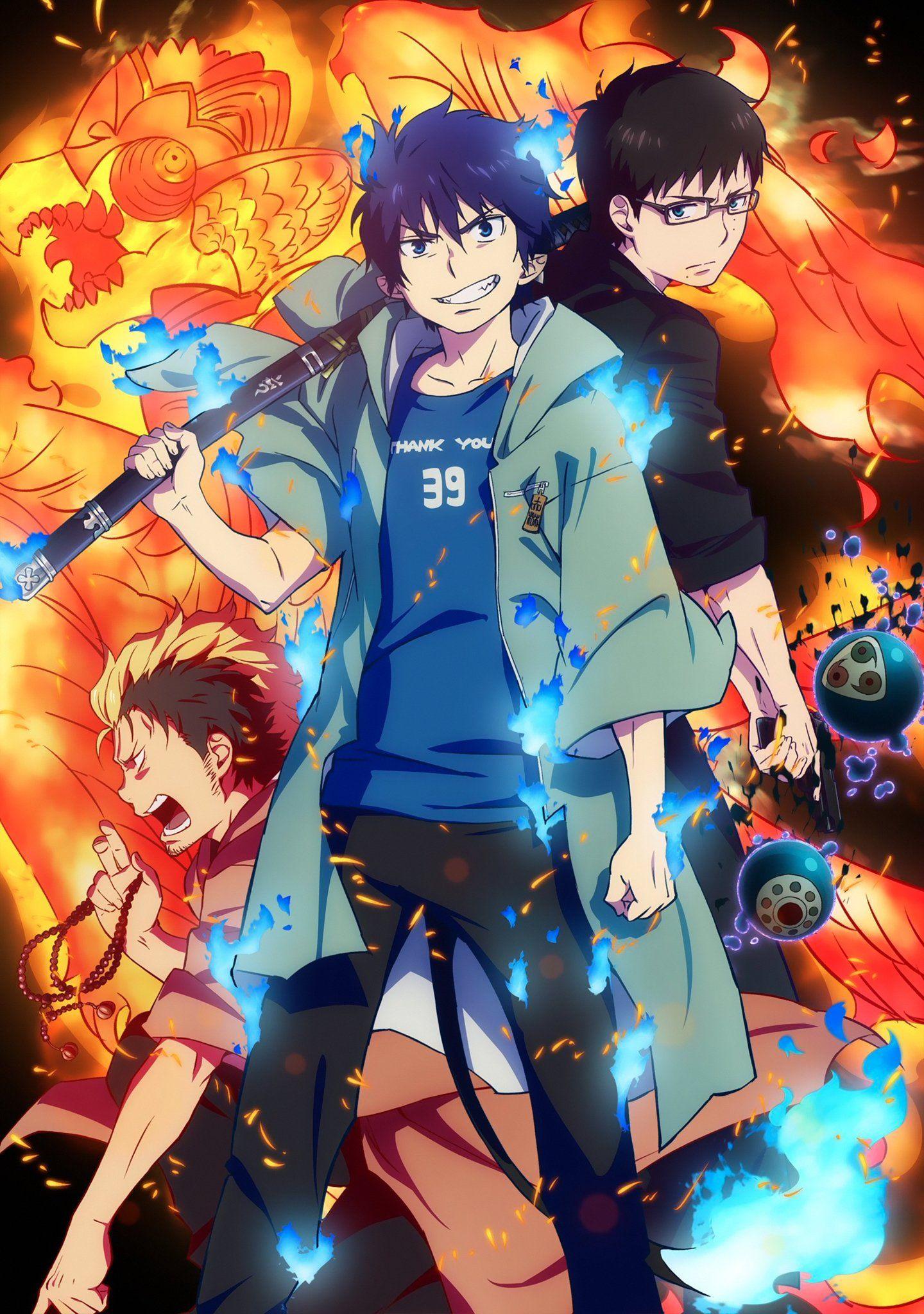 Rin, Yukio and Suguro Blue Exorcist anime manga