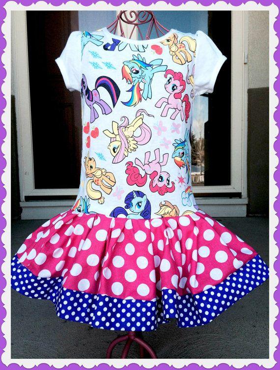 62da77dda girls My Little Pony party Dress rarity pinkie pie fluttershy ...