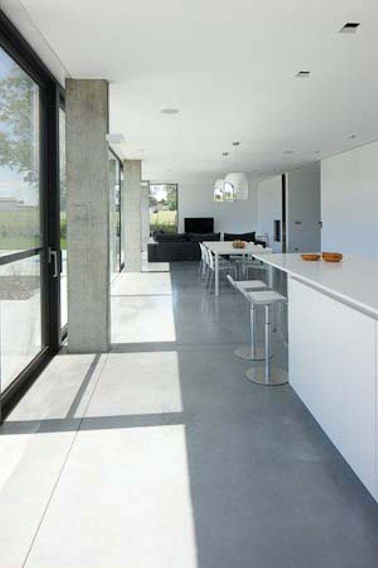Kolom beton schuifraam living RB Pinterest Interiors, Polished
