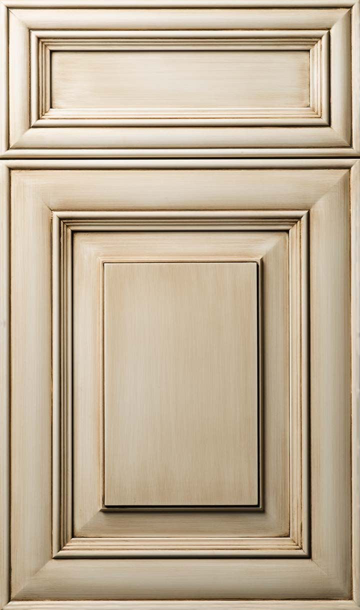 All wood shaker style with molding york antique white or chocolate - I Would Love To Redo My Cabinets To This Color Love It
