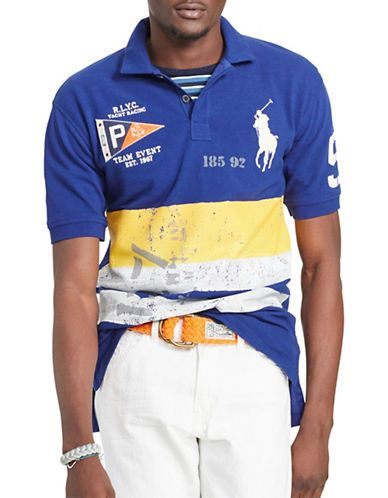 brand new b9303 2fbf9 Polo Ralph Lauren Classic-Fit Nautical Polo Shirt Men's Fall ...