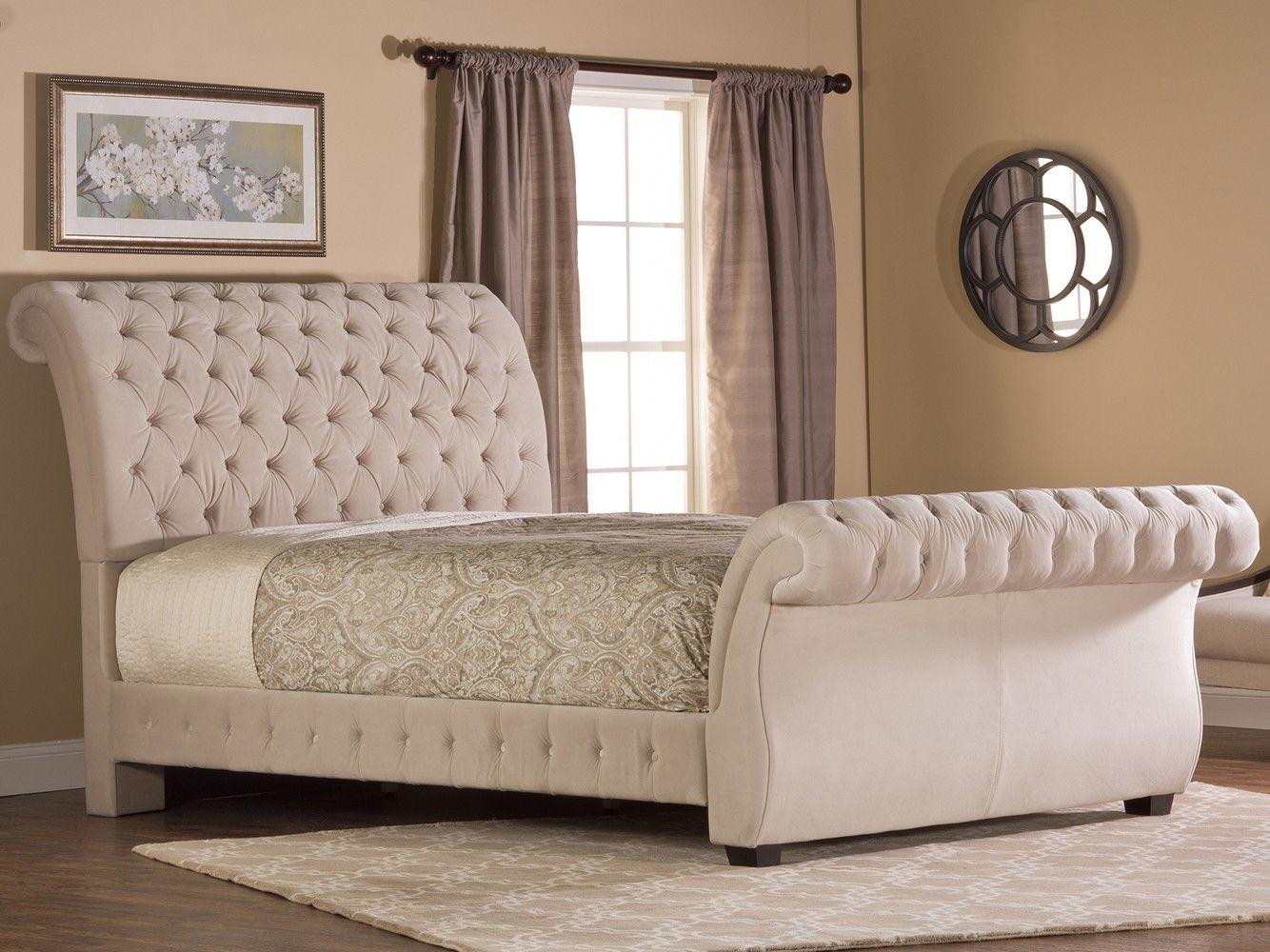 Wayfair Tufted Headboard Tufted Headboard In Bedroom: Bombay Fabric Upholstered Bed In Buckwheat By Hillsdale