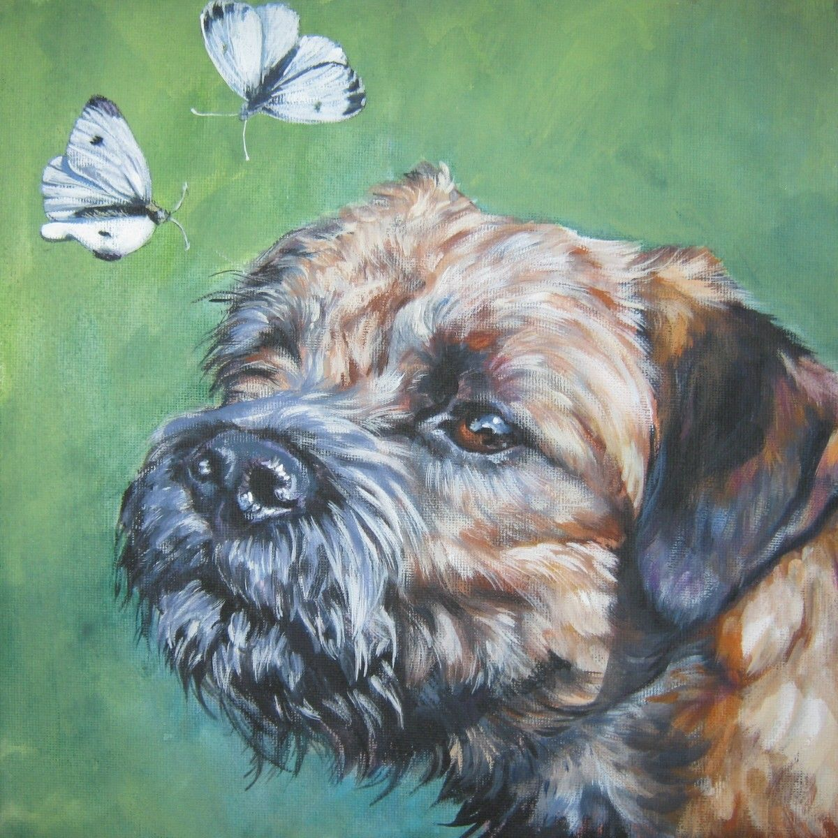 Mick Cawston /'Border Ways/' New Border Terrier Open Edition Print