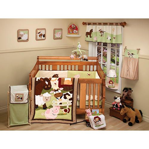 nojo farm babies 5 piece crib bedding set nojo babies r us future children baby crib. Black Bedroom Furniture Sets. Home Design Ideas