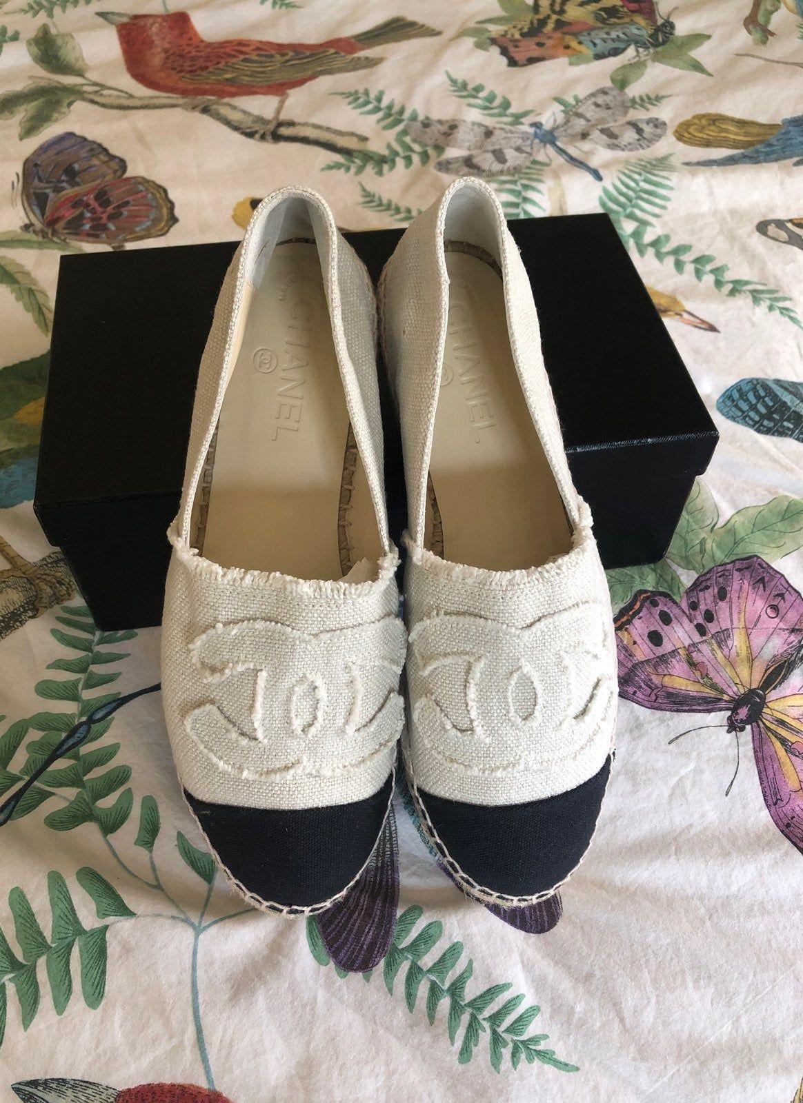 Authentic Chanel espadrilles Never worn
