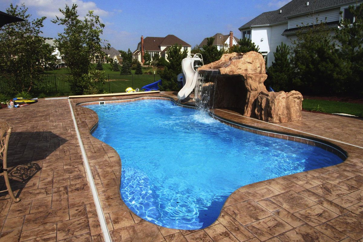 Inground Swimming Pool With Dog Signature Pools X