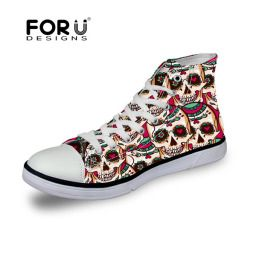Street Casual High Top Sneaker Shoe fashion skull design1
