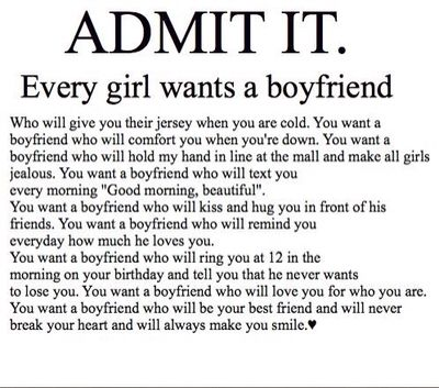 Admit it. Every girl wants a boyfriend who | Boyfriend ...