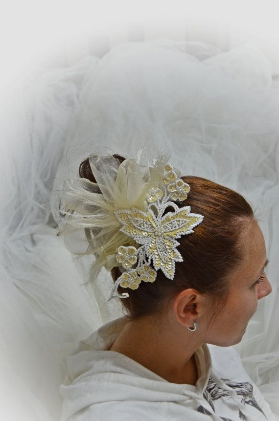 original french lace. Bridal Hair Piece  French  Lace by newgloves, $38.00