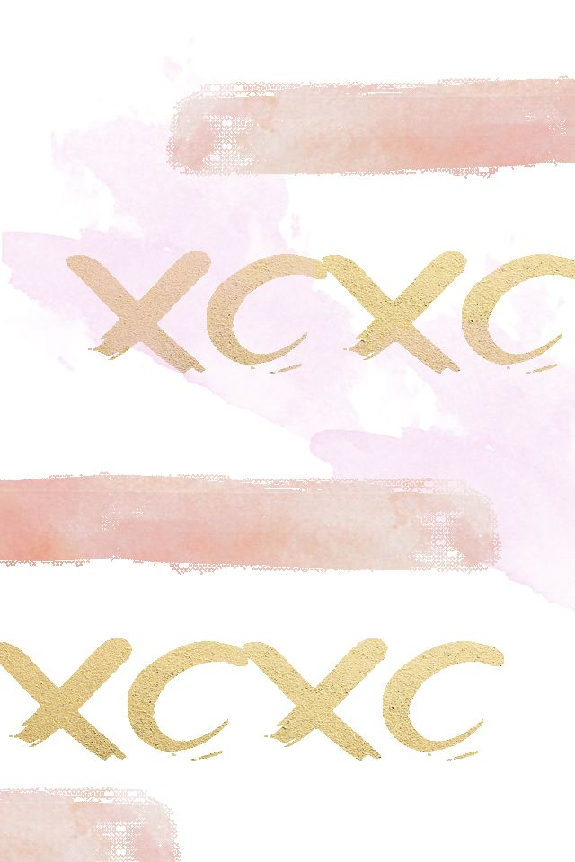 Xoxo Watercolor Iphone Wallpaper Background Gold And Pink