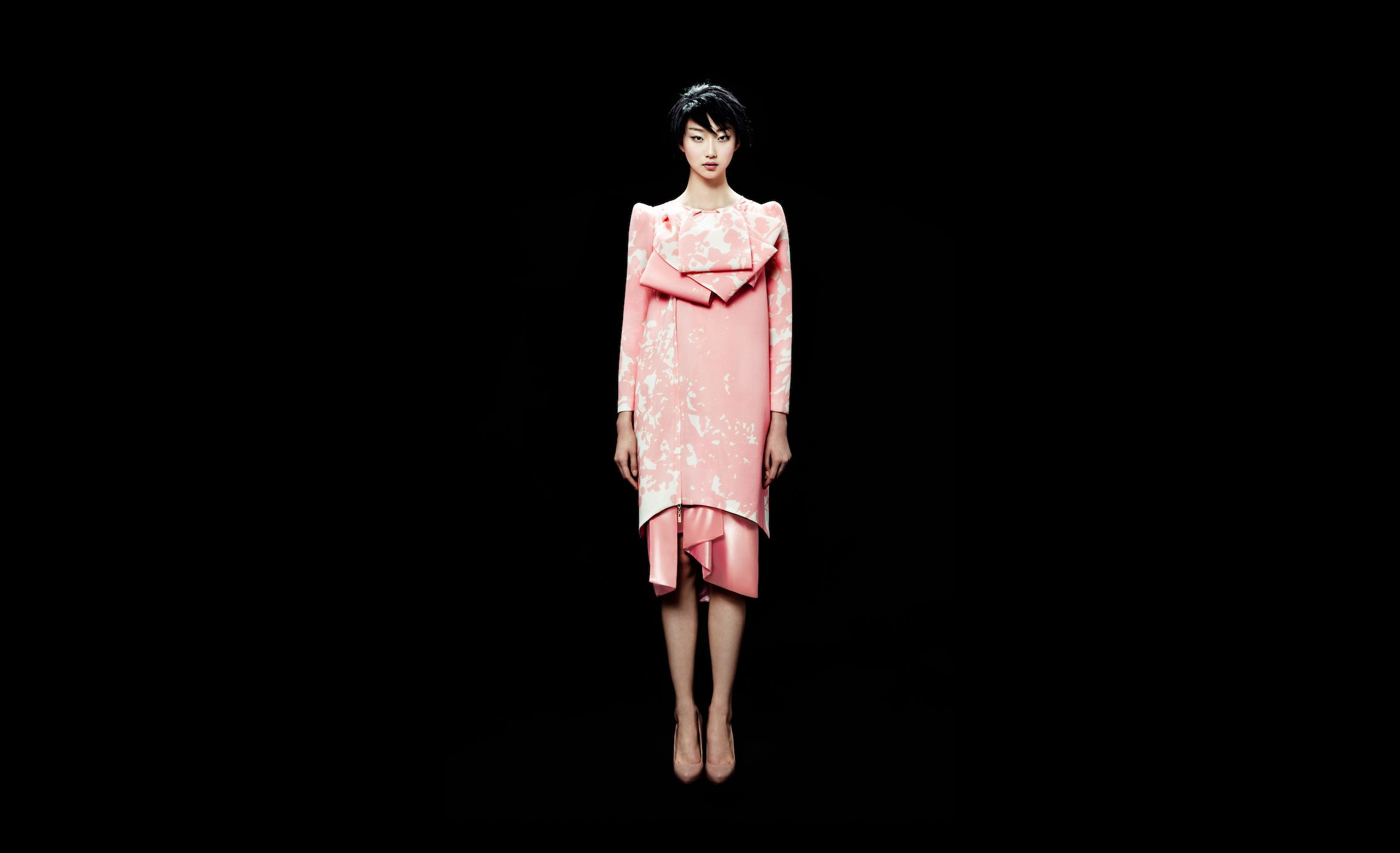 Double layer straight dress phuong my modern reinterpretations of