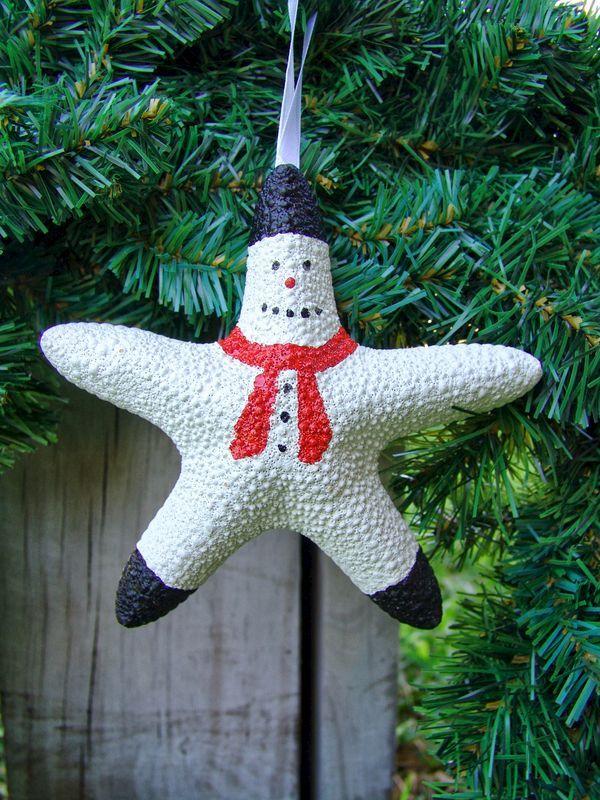 Santa Starfish Christmas Tree Ornament Decoration