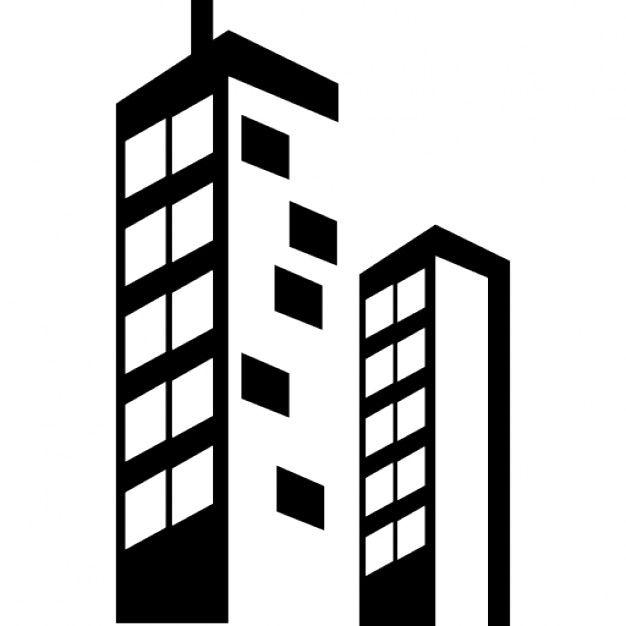 Edificios rascacielos Icono Gratis | ICONOS | Pinterest | Building ...