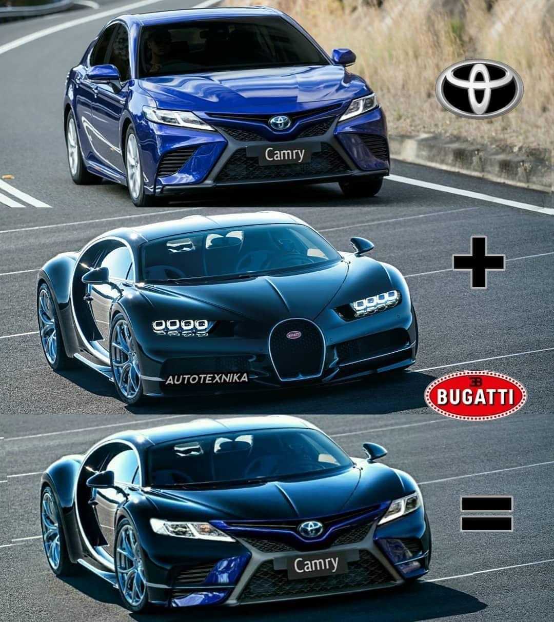 Toyota Camry + Bugatti Chiron = ? 😂 in 2020 Sports cars