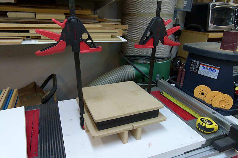 Diy mdf kydex press with craftsman bar clamps kydex diy